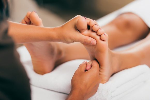 Traditional reflexology of Bali (foot sole massage)